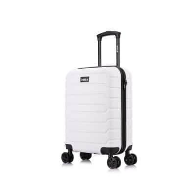 Trend 20 in. White Lightweight Hardside Spinner Carry On