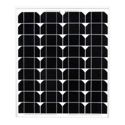 50-Watt 12-Volt Monocrystalline PV Solar Panel