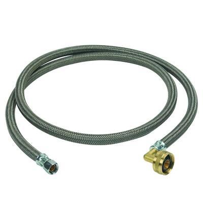 3/8 in. Compression x 3/4 in. Garden Hose Swivel Elbow x 60 in. Braided Polymer Dishwasher Connector