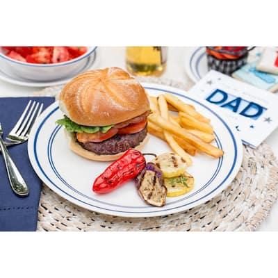 16-Piece Casual Cafe Blue Glass Dinnerware Set (Service for 4)
