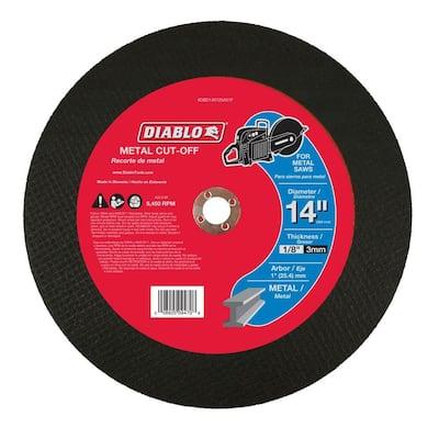 14 in. x 1/8 in. x 1 in. Metal High Speed Cut-Off Disc
