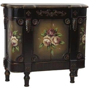 Nearly Natural Brown French Vintage Floor Cabinet Deals