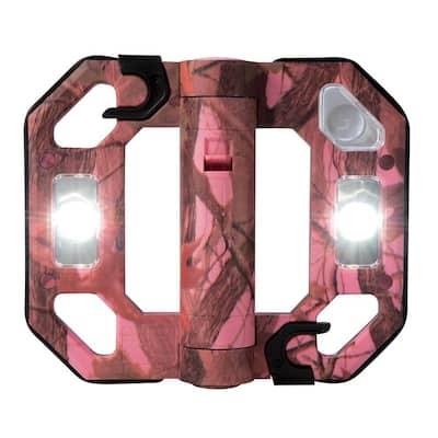 200-Lumen Camo Mini Compact Folding LED Work Light - Pink