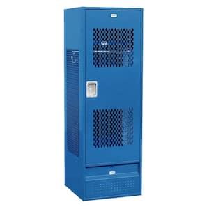72000 Series 24 in. W x 72 in. H x 24 in. D Gear Metal Locker with Ventilated Door Unassembled in Blue