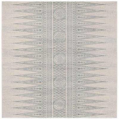Evoke Ivory/Silver 7 ft. x 7 ft. Square Area Rug