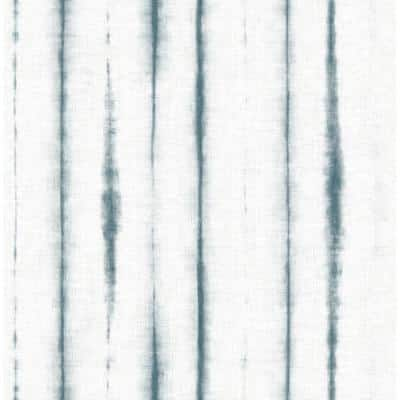 Lomita, Teal Orleans Shibori Faux Linen Paper Strippable Wallpaper Roll (Covers 56.4 sq. ft.)