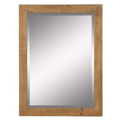 Medium Rectangle Beveled Glass Pueblo Mirror (40 in. H x 30 in. W)