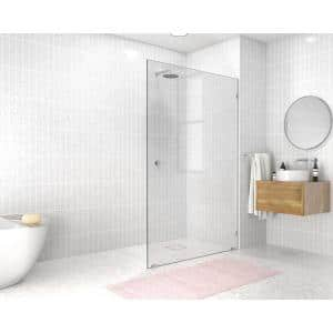 48 in. x 78 in. Frameless Fixed Panel Shower Door in Chrome without Handle
