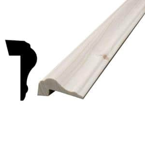 13/16 in. x 1-1/2 in. x 96 in. Knotty Pine Panel Cap Moulding