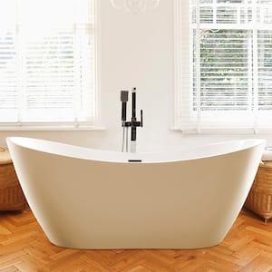 Mulhouse 71 in. Acrylic Flatbottom Freestanding Bathtub in White