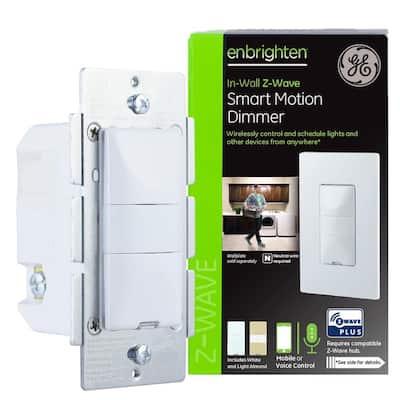 Enbrighten Z-Wave Plus Smart Lighting Control Motion Dimmer