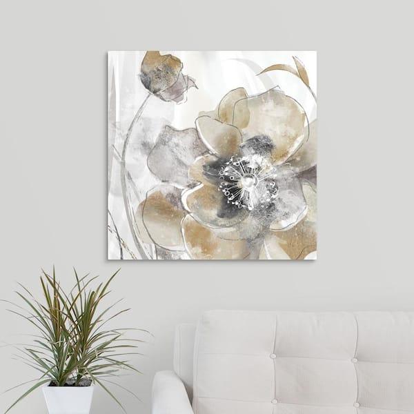 Taupe Spring Poppy I Canvas Wall Art Print Poppy Home Decor