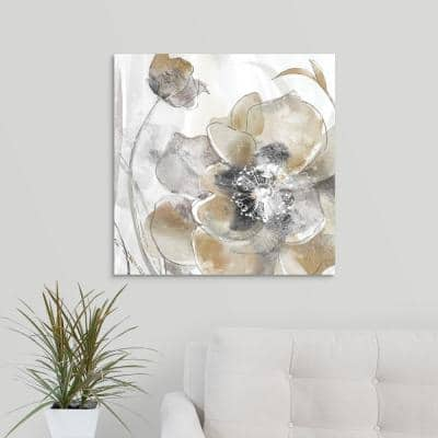 """""""Taupe Spring Poppy I"""" by Maria Donovan Canvas Wall Art"""
