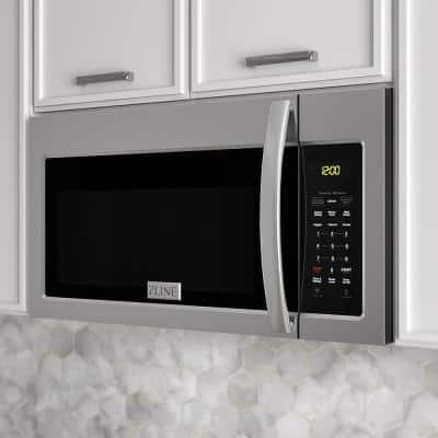 1.5 cu. ft. Over the Range Convection Microwave Oven in Stainless Steel with Modern Handle with Sensor Cooking