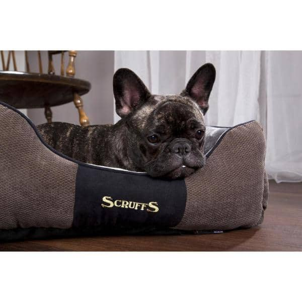 Scruffs Chester Xl Graphite Grey Polyester Box Dog Bed Bed Rcd 932008 The Home Depot