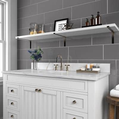 Restore Dove Gray 8 in. x 24 in. Glazed Ceramic Wall Tile (13.3 sq. ft./Case)