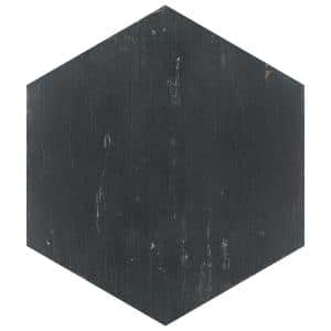 Retro Hex Nero 14-1/8 in. x 16-1/4 in. Porcelain Floor and Wall Tile (48 Cases/530.4 sq. ft./Pallet)