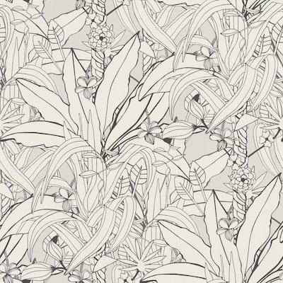 Manipur Off-White Jungle Canopy Wallpaper Sample
