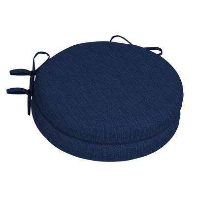 15 x 15 Sunbrella Spectrum Indigo Round Outdoor Chair Cushion (2-Pack)