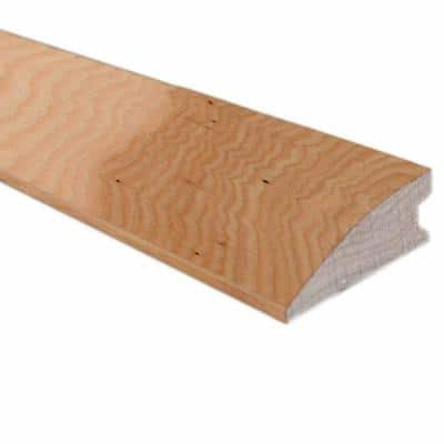 Unfinished Hickory 3/8 in. Thick x 1.56 in. Width x 78 in. Length Flush-Mount Reducer Molding