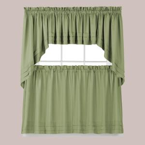 Holden 30 in. L Polyester Swag Valance in Sage (2-Pack)