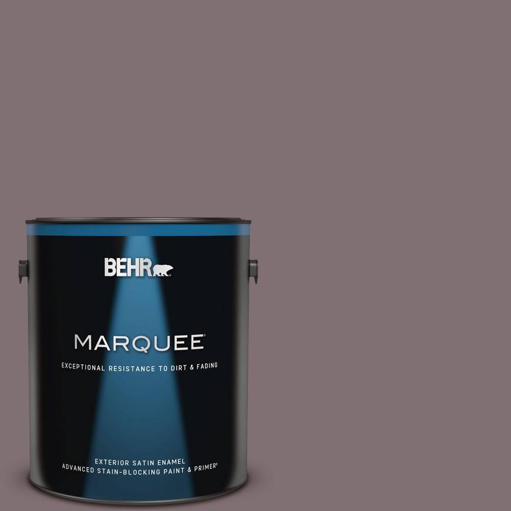 Behr Marquee 1 Gal N110 5 Royal Raisin Satin Enamel Exterior Paint Primer 945301 The Home Depot