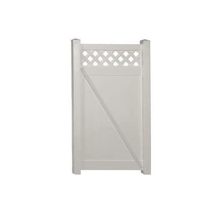 Ashton 3.7 ft. W x 6 ft. H Tan Vinyl Privacy Fence Gate Kit