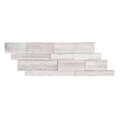 Stone Grey Ledger 5-7/8 in. x 16 in. Limestone Mosaic Tile