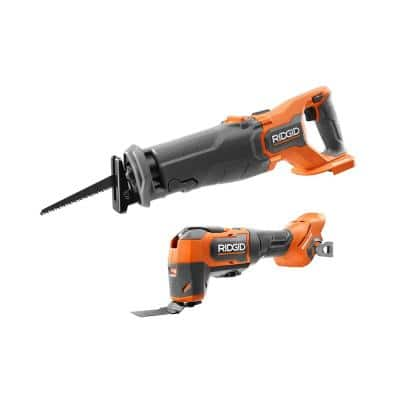 18-Volt Brushless Cordless 2-Tool Combo Kit with Oscillating Multi-Tool and Reciprocating Saw (Tools-Only)