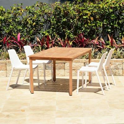 San Diego 5-Piece Teak Rectangular Patio Dining Set