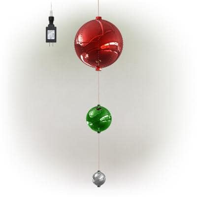 3-Tier Indoor/Outdoor Hanging Christmas Ornaments With Chasing LED Lights