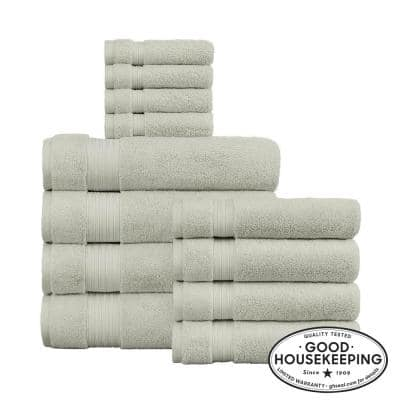 Egyptian Cotton 12-Piece Towel Set in Sage