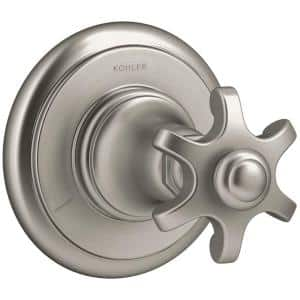 Artifacts Prong 1-Handle Transfer Valve Trim Kit in Vibrant Brushed Nickel (Valve Not Included)