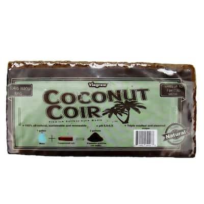 1.4 lbs./650g Premium Coco Coir, Soilless Grow Media, Coconut Coir Brick