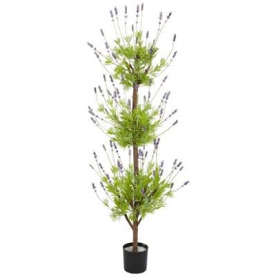 4ft. Green Lavender Topiary Artificial Tree