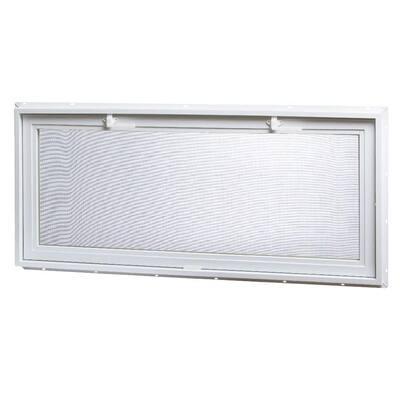 46 in. x 21 in. Large Hopper Ranch Vinyl Window - White