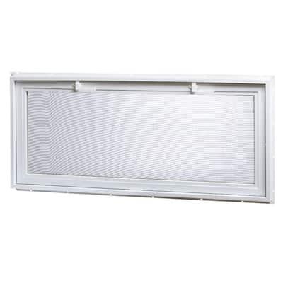 46.25 in. x 21 in. Large Hopper Ranch Vinyl Window - White