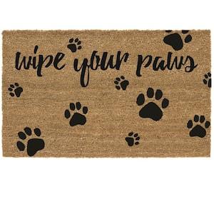 Wipe Your Paws 24 in. x 36 in. Coir Door Mat