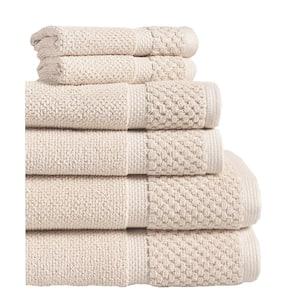Diplomat 6-Piece Creme Solid Cotton Bath Towel Set