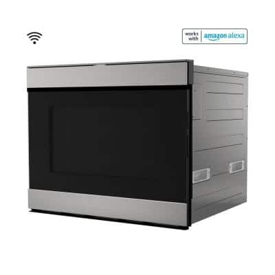 24 in. Built-in Smart Stainless Steel Electric Convection Microwave Drawer Oven