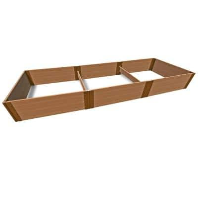 4 ft. x 12 ft. x 16.5 in., 1 in. Profile Classic Sienna Tool-Free Composite Raised Garden