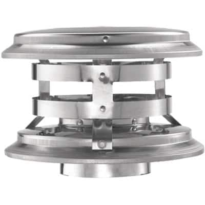 PelletVent 4 in. Fixed Vertical Chimney Cap
