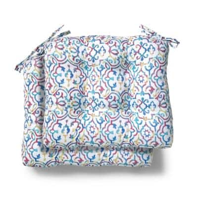 19 in. x 18 in. x 4.5 in. London Trellis Tufted Outdoor Seat Cushion (2 Pack)