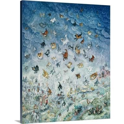"""""""Raining Cats and Dogs"""" by Bill Bell Canvas Wall Art"""