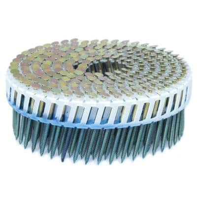 1.75 in. x 0.092 in. 15-Degree Ring Galvanized Plastic Sheet Coil Siding Nail 3,200 per Box