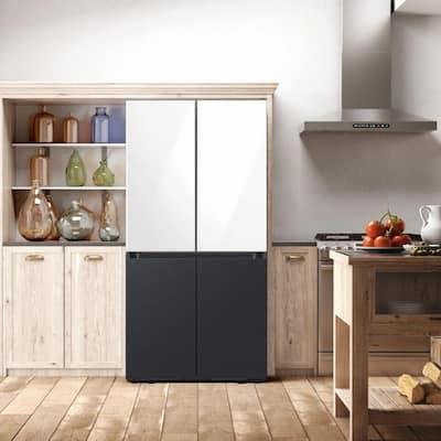 BESPOKE 4-Door Flex French Door Smart Refrigerator with Beverage Center and Customizable Panels