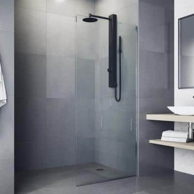 Gardenia Retrofit 39 in. 2-Jet High Pressure Shower System with Fixed Rainhead and Handheld Dual Shower in Matte Black