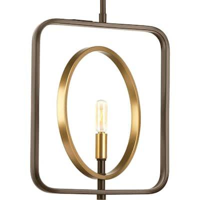 Swing 1 -Light Antique Bronze Pendant