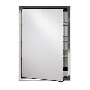 Urban Steel 22 in. W x 28 in. H Recessed or Surface Mount Large Framed Mirror Medicine Cabinet in Polished