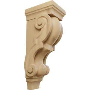 7-1/2 in. x 6 in. x 18 in. Unfinished Wood Cherry Extra Large Traditional Corbel
